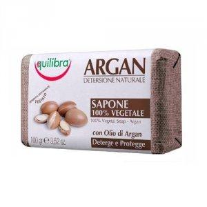 EQUILIBRA Argan Detersione Naturale 100% Vegetal Soap aloesowe mydło Argan 100g