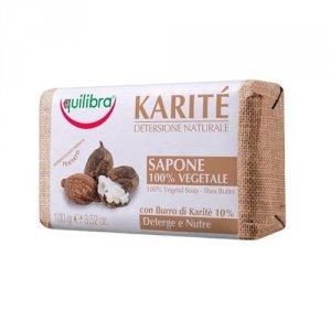EQUILIBRA Karite Detersione Naturale 100% Vegetal Soap mydło z masłem Shea 100g