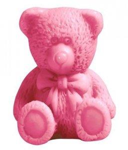 LAQ Happy Soaps Różowy Mały Miś naturalne mydło glicerynowe Wiśnia 30g