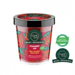 ORGANIC SHOP Body Desserts Strawberry Jam Deep Cleansing Body Scrub głęboko oczyszczający peeling do ciała o zapachu dżemu trusk