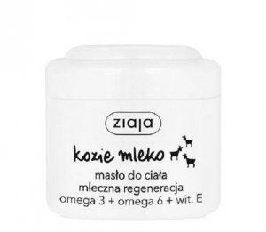 ZIAJA Kozie Mleko masło do ciała mleczna regeneracja Omega 3 + Omega 6 + Wit.E 200ml