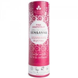 BEN&ANNA Natural Soda Deodorant naturalny dezodorant na bazie sody sztyft kartonowy Pink Grapefruit 60g