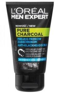 L'OREAL PARIS Men Expert Pure Charcoal peeling do twarzy przeciw zaskórnikom 100ml