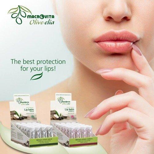 MACROVITA OLIVE-ELIA pomadka do ust z bio-składnikami SPF10 NATURAL 4g
