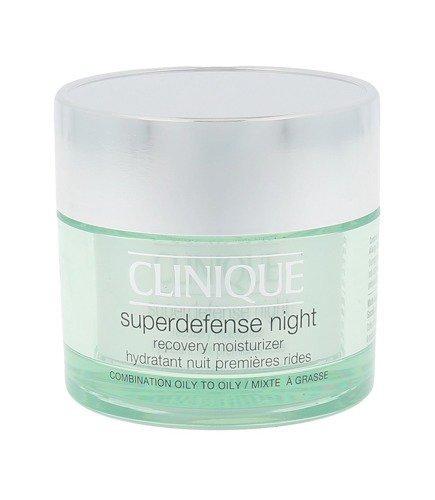 CLINIQUE Superdefense Night Recovery Moisturizer 3/4 Combination Oily To Oily regenerujący krem na noc 50ml