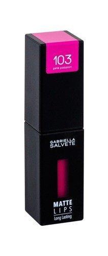 GABRIELLA SALVETE Matte Lips pomadka w płynie dla kobiet 4,5ml (103 Pink Passion)