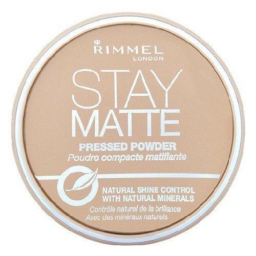 RIMMEL LONDON Stay Matte Long Lasting Pressed Powder puder prasowany dla kobiet 14g (003 Peach Glow)