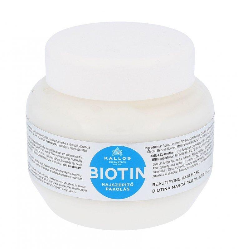 Kallos Cosmetics Biotin (Maska do włosów, W, 275ml)
