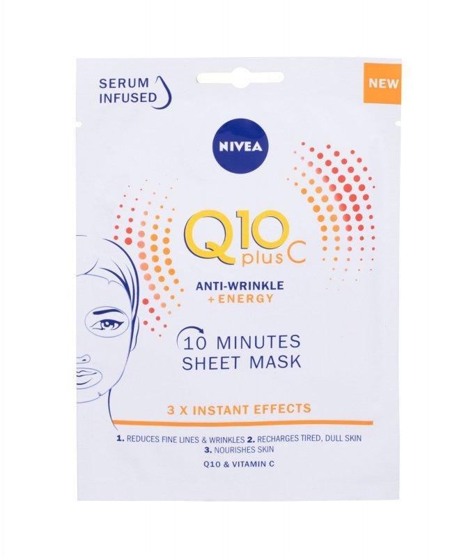 Nivea Q10 Plus C 10 Minutes Sheet Mask (Maseczka do twarzy, W, 1szt)