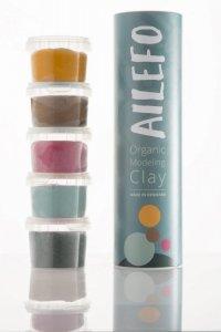 Ailefo, Organiczna Ciastolina, mała tuba, 5 kolorów po 100g