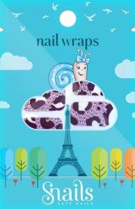 Naklejki na paznokcie, Nail Wrap – Purple Zebra, fioletowa zebra