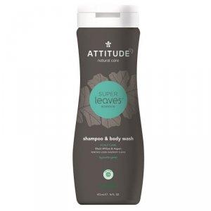 Attitude, Szampon i żel do mycia ciała 2 w 1, SCALP CARE MEN, 473 ml