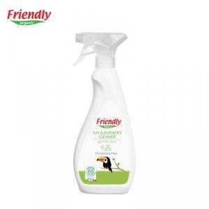 Friendly Organic, Spray do czyszczenia zabawek i pokoju dziecięcego, bezzapachowy, 500 ml.