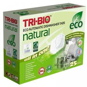 TRI-BIO, Ekologiczne Tabletki do Zmywarki All in One, 25 szt.
