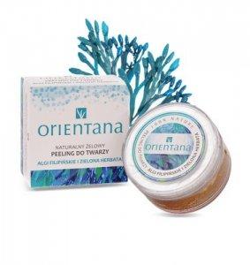Orientana, Naturalny Żelowy Peeling do Twarzy ALGI FILIPIŃSKIE I ZIELONA HERBATA, 50 g