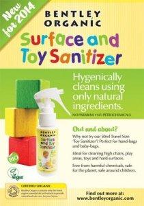 Dziecięcy Spray Dezynfekujący do Mycia Zabawek Bentley Organic MINI 50ml