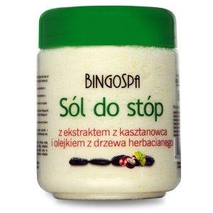 BINGOSPA Sól do stóp z ekstraktem z kasztanowca i olejkiem z drzewa herbacianego 550g