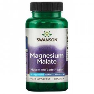 SWANSON Magnesium Malate 150mg magnezu, 60tabl. - Jabłczan magnezu
