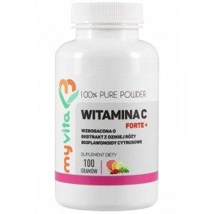 MyVita Witamina C FORTE+ proszek 100g - witamina C + bioflawonoidy + dzika róża