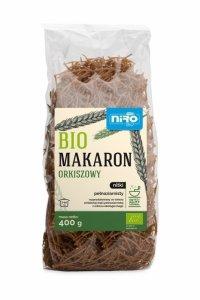MAKARON (ORKISZOWY RAZOWY) NITKI BIO 400 g - NIRO