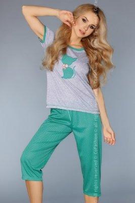 1 MODEL 718 GREEN piżama PROMO