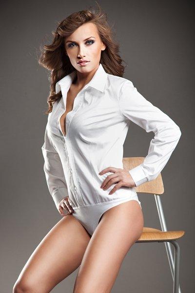 Koszula body - biały - K22