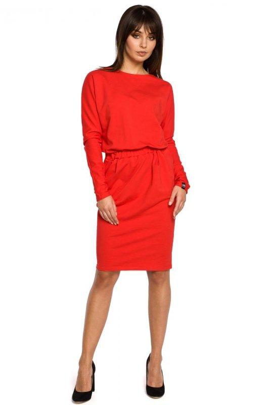 B060 sukienka czerwona