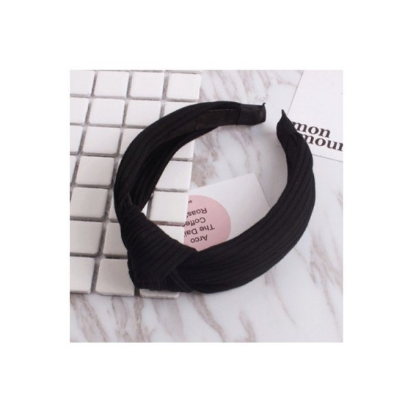Opaska turban z materiału czarna O210CZ