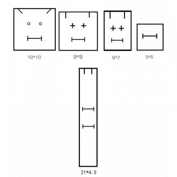 PUDEŁKO OZDOBNE NA BIŻUTERIĘ, bransoletkę 4,0 x 11,0 x 4,0 cm PDOZ13R