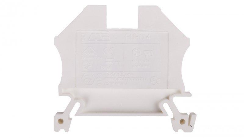 Złączka szynowa 2-przewodowa 4mm2 biała EURO 43409WT