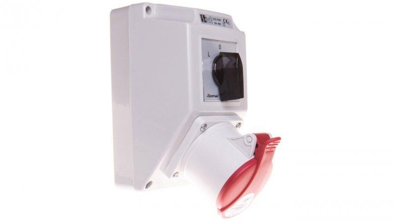 Zestaw instalacyjny z gniazdem 32A 5P (L-0-P) czerwony ZI02R461