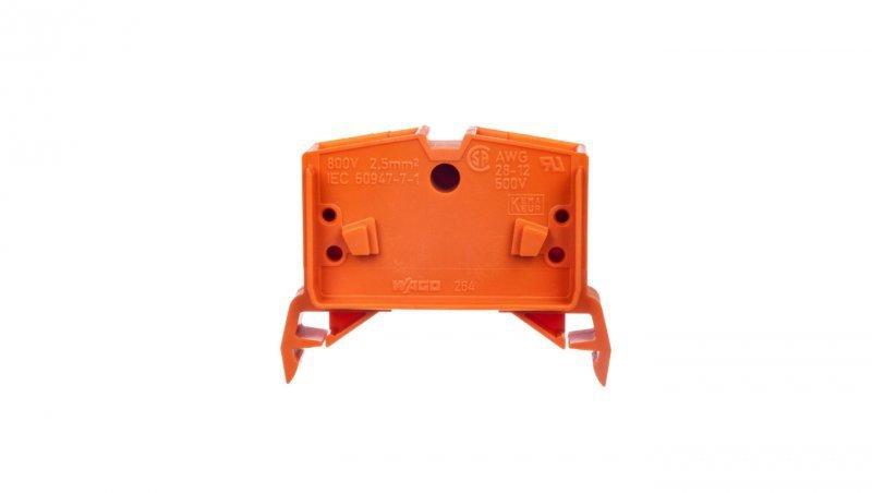 Złączka szynowa 4-przewodowa 2,5mm2 pomarańczowa 264-736  /100szt./