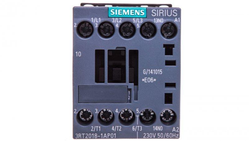 Stycznik mocy 16A 3P 230V AC 1Z 0R S00 3RT2018-1AP01