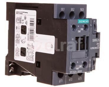 Stycznik mocy 12A 3P 24V DC 1Z 1R S0 3RT2024-1BB40