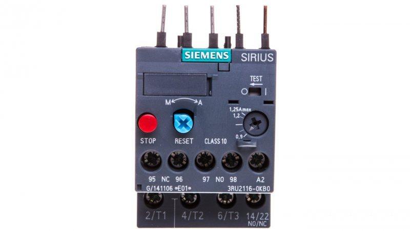 Przekaźnik termiczny 0,9-1,25A S00 3RU2116-0KB0
