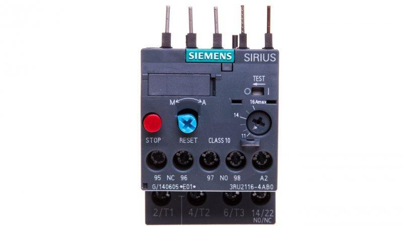 Przekaźnik termiczny 11-16A S00 3RU2116-4AB0