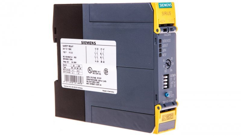 Przekaźnik bezpieczeństwa 0,5-30s 4Z 24V DC 3SK1121-1CB42