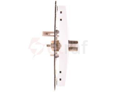 Catrin Gniazdo antenowe podwójne TV typu F bez ramki białe 2187-10