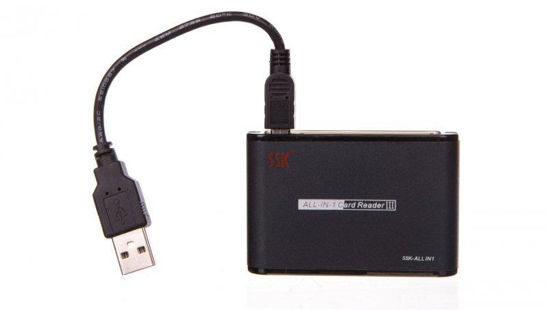 Czytnik kart pamięci z przewodem USB WAADAUSBMEM