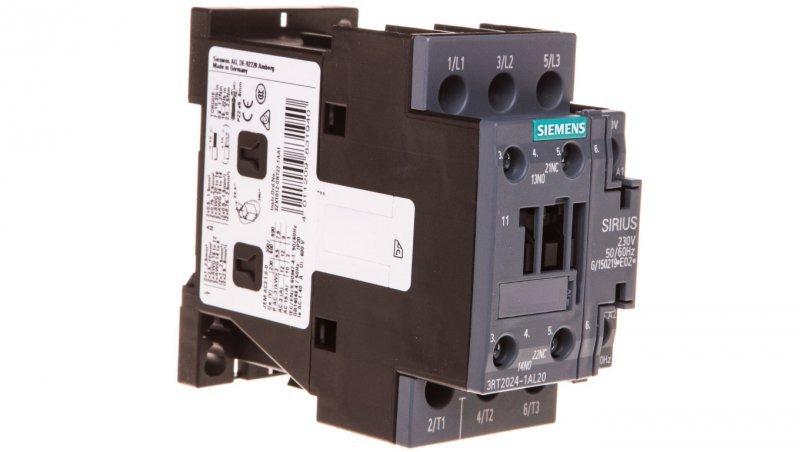 Stycznik mocy 12A 3P 230V AC 1Z 1R S0 3RT2024-1AL20