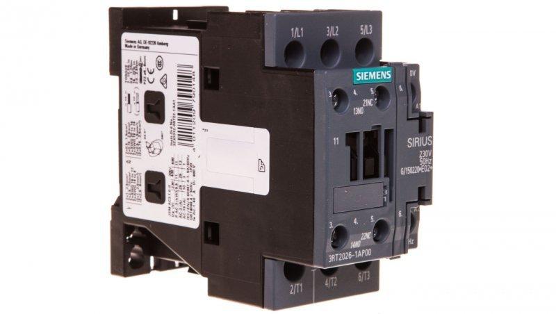 Stycznik mocy 25A 3P 230V AC 1Z 1R S0 3RT2026-1AP00
