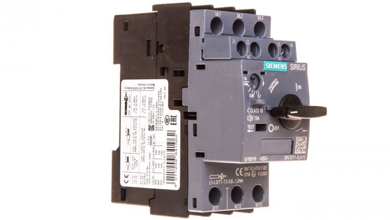 Wyłącznik silnikowy 3P 0,7-1A 1Z 1R S00 3RV2011-0JA15