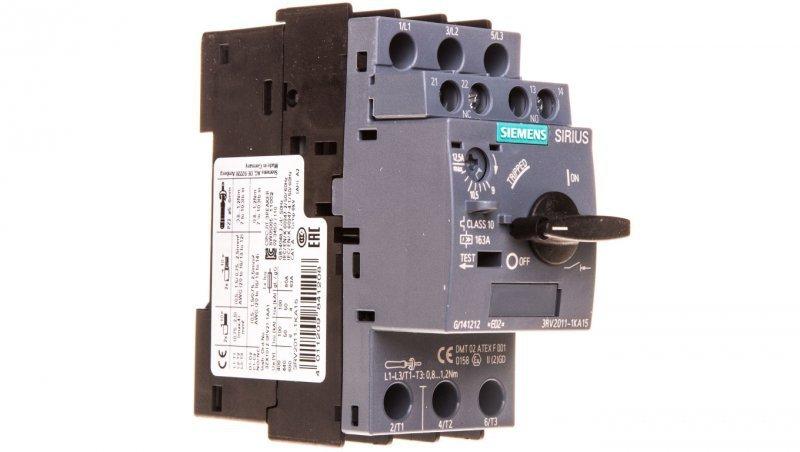 Wyłącznik silnikowy 3P 5kW 9-12,5A 1Z 1R S00 3RV2011-1KA15