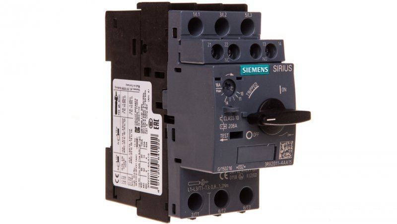 Wyłącznik silnikowy 3P 7kW 11-16A 1Z 1R S00 3RV2011-4AA15