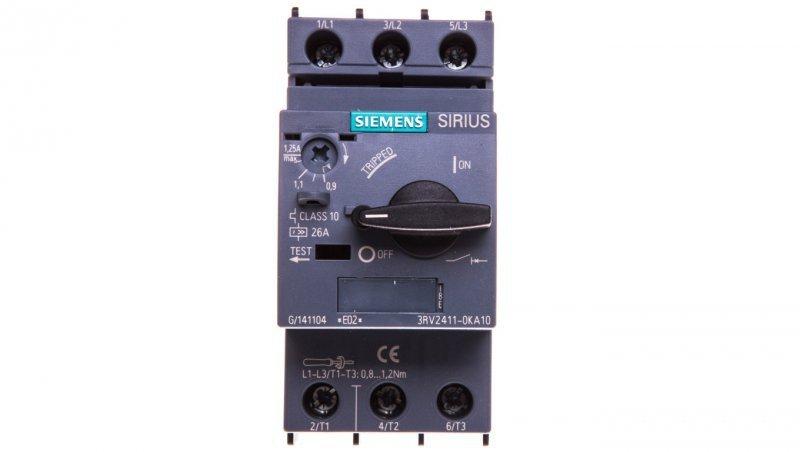 Wyłącznik do transformatorów 3P 0,9-1,25A 100kA S00 3RV2411-0KA10