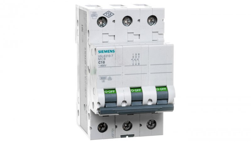 Wyłącznik nadprądowy 3P C 10A 6kA AC 5SL6310-7