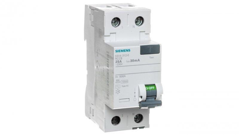 Wyłącznik różnicowoprądowy 2P 25A 0,03A typ AC 5SV4312-0