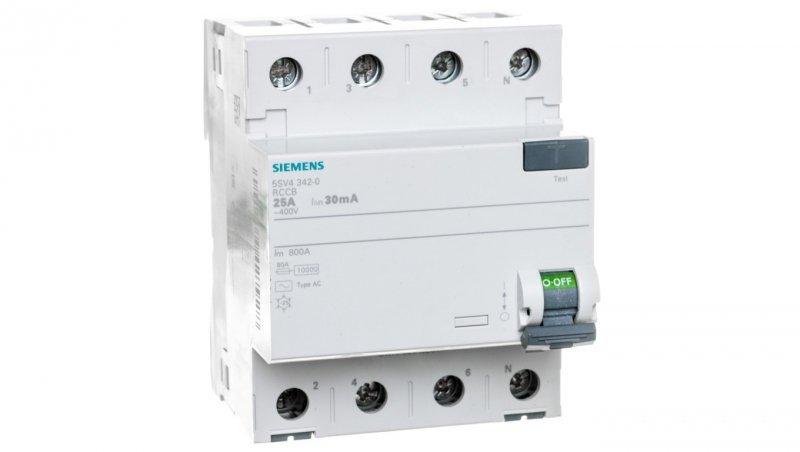 Wyłącznik różnicowoprądowy 4P 25A 0,03A typ AC 5SV4342-0