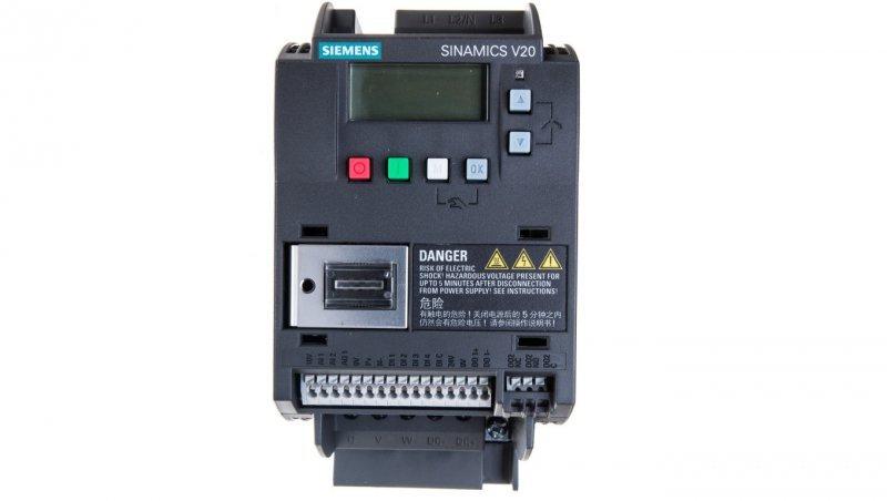 Falownik Uwe=400V, Uwy=3x400V/5,6A 2,2kW Sinamics V20 6SL3210-5BE22-2UV0