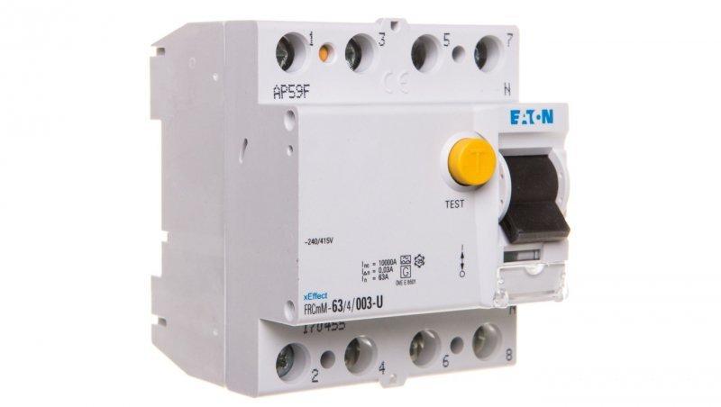 Wyłącznik różnicowoprądowy 4P 63A 0,03A typ U FRCmM-63/4/003-U 170455